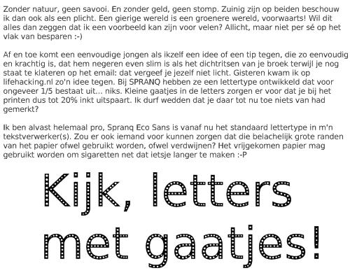 letters met gaatjes